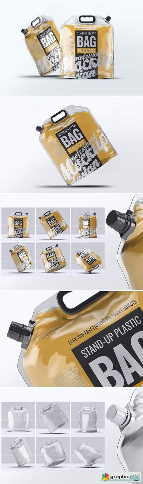 Stand-up Plastic Packaging Bag Mock-Up