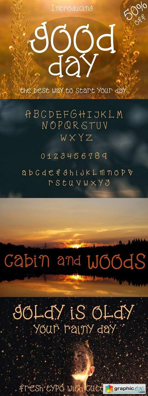Good Day - Fresh Cute Font