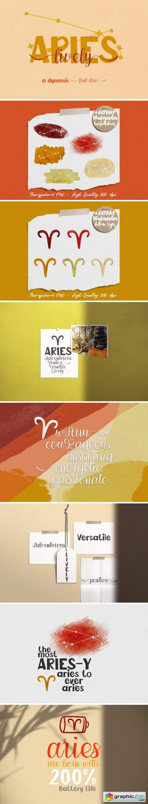 Lively Aries Duo Font