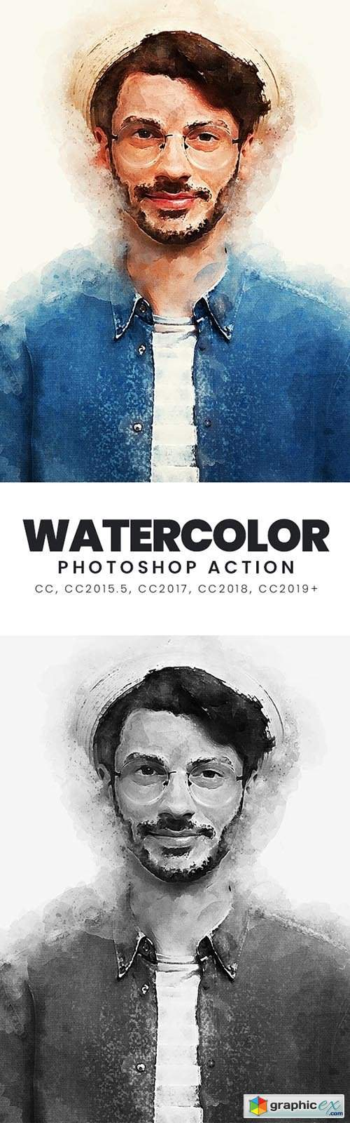 Watercolor Photoshop Action 33396288