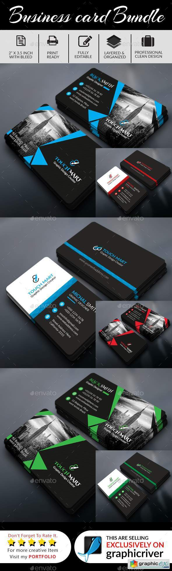 Business Card Bundle (6 In 1)