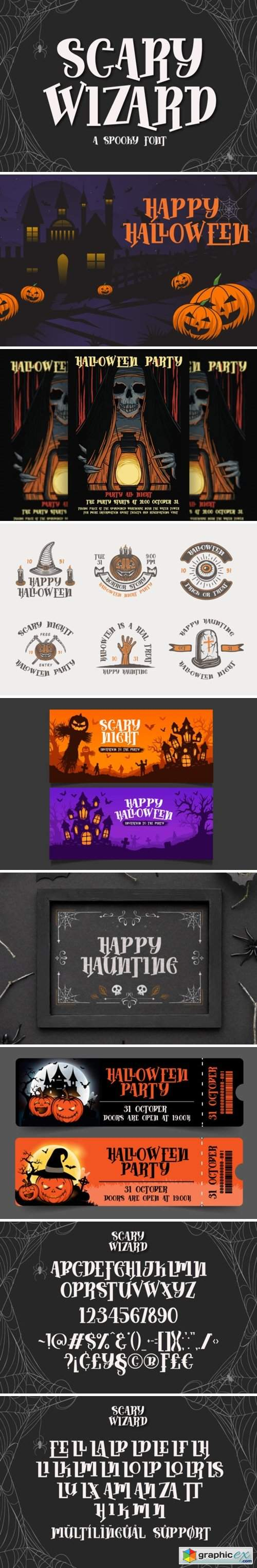Scary Wizard Font