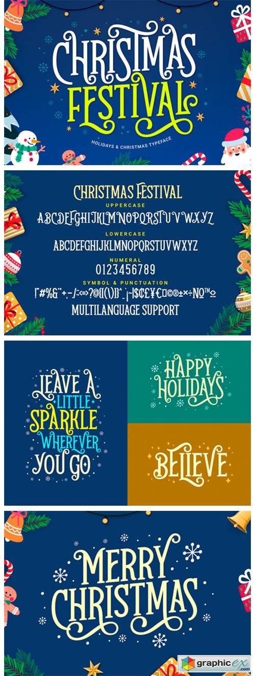Christmas Festival Font