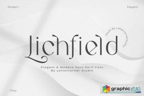 Lichfield Sans Serif Font