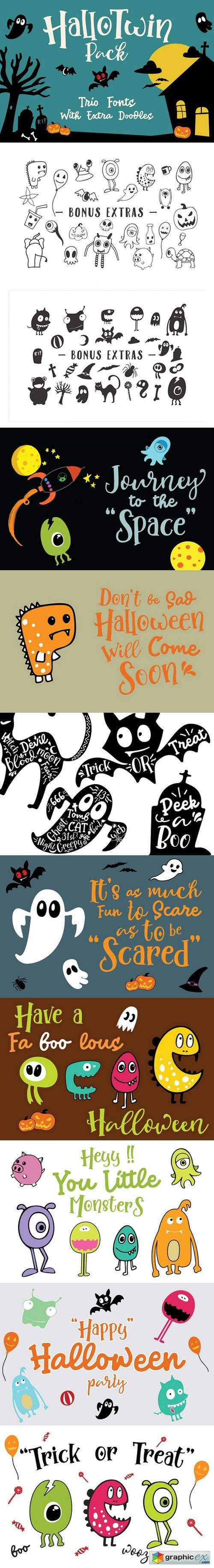 HalloTwin Font Pack