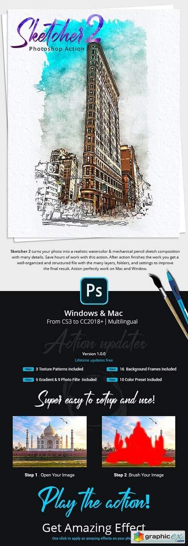 Sketcher 2 Photoshop Action
