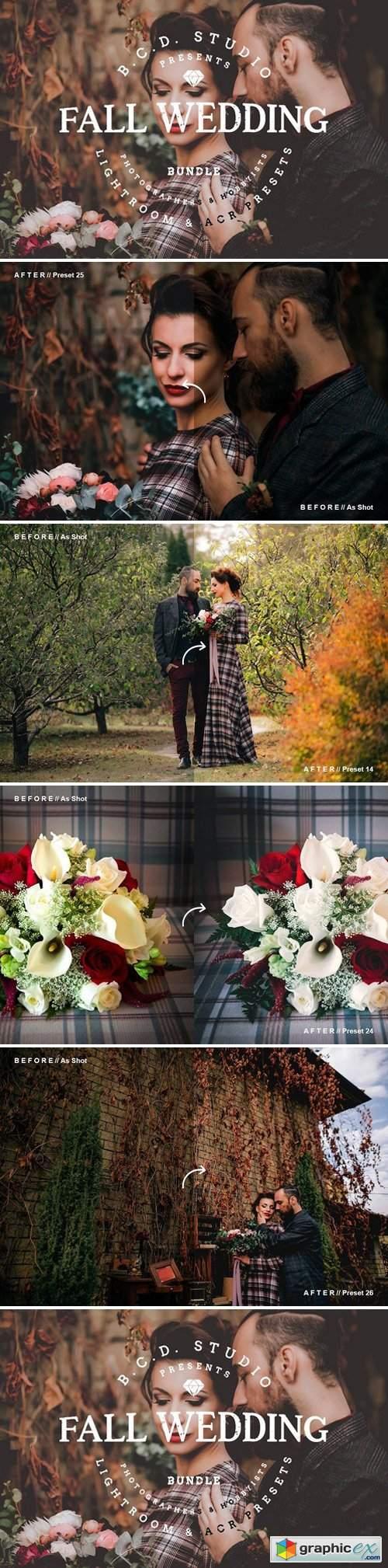 30 Fall Wedding LR PS Presets