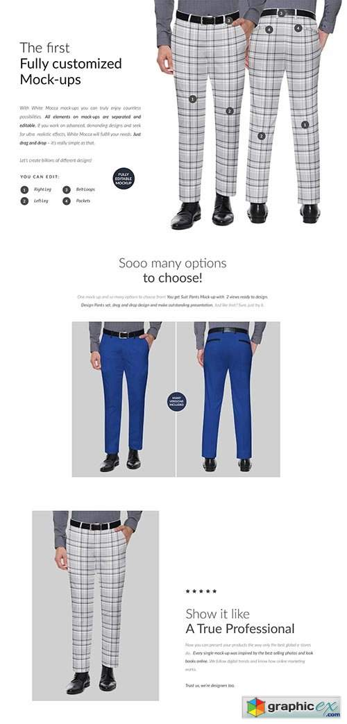 Suit Pants 2xMock-ups