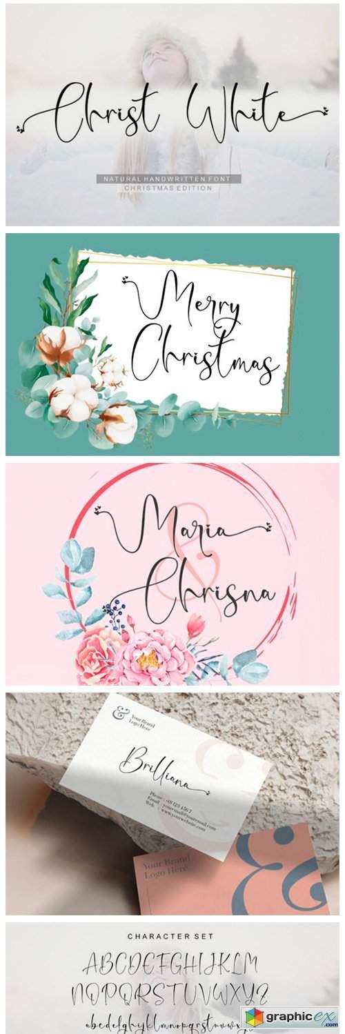 Christ White Font