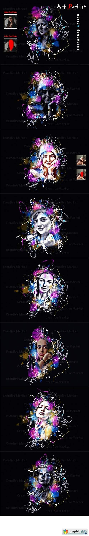 Art Portrait Photoshop Action