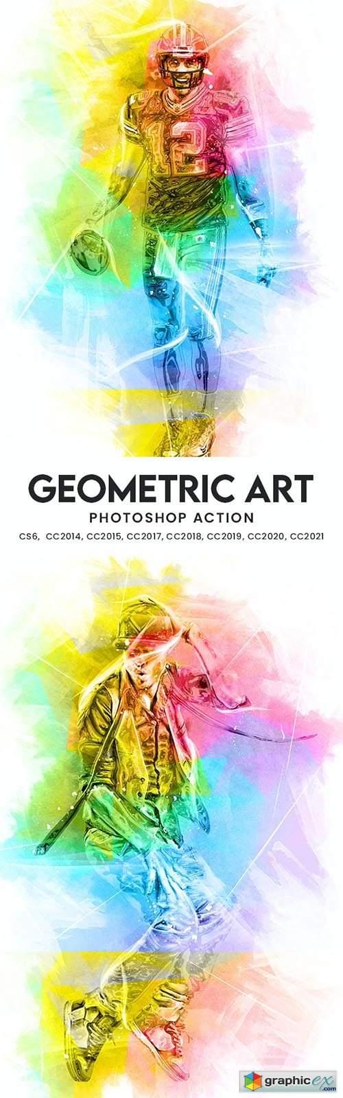 Geometric Art Photoshop Action 33954727