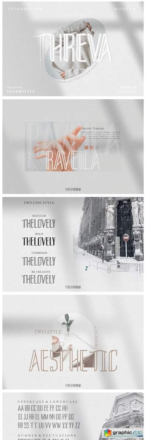 Threva Sans Serif Two Style Font