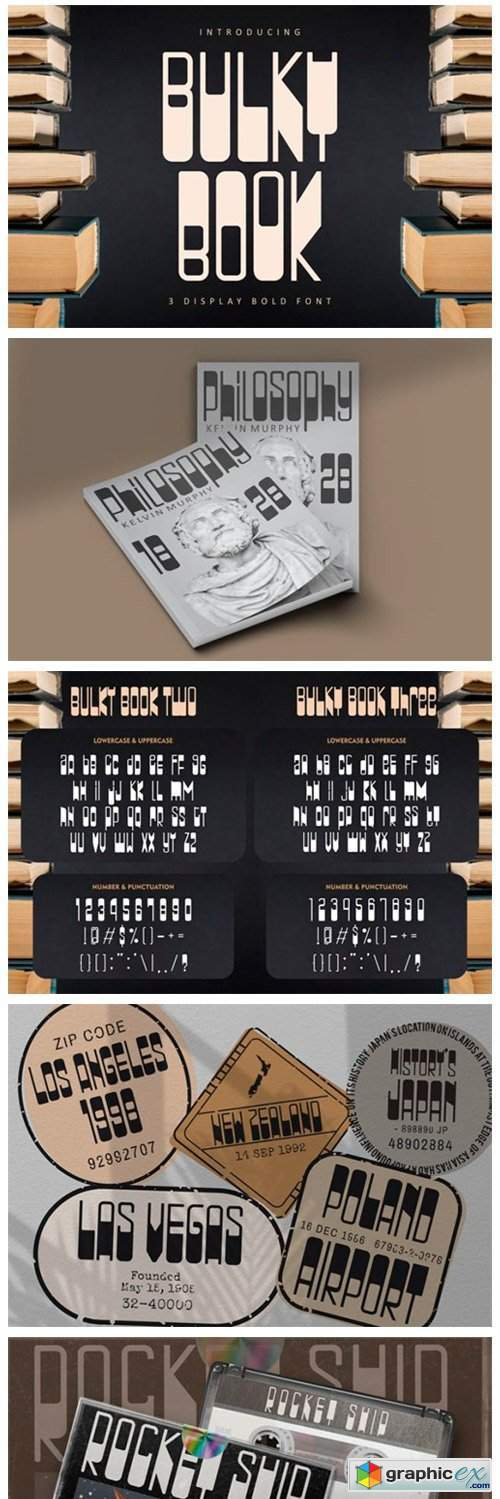 Bulky Book Font