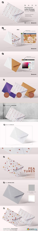 Rectangular Letter Envelope Mockup