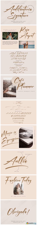 Andilanteria Signature Font