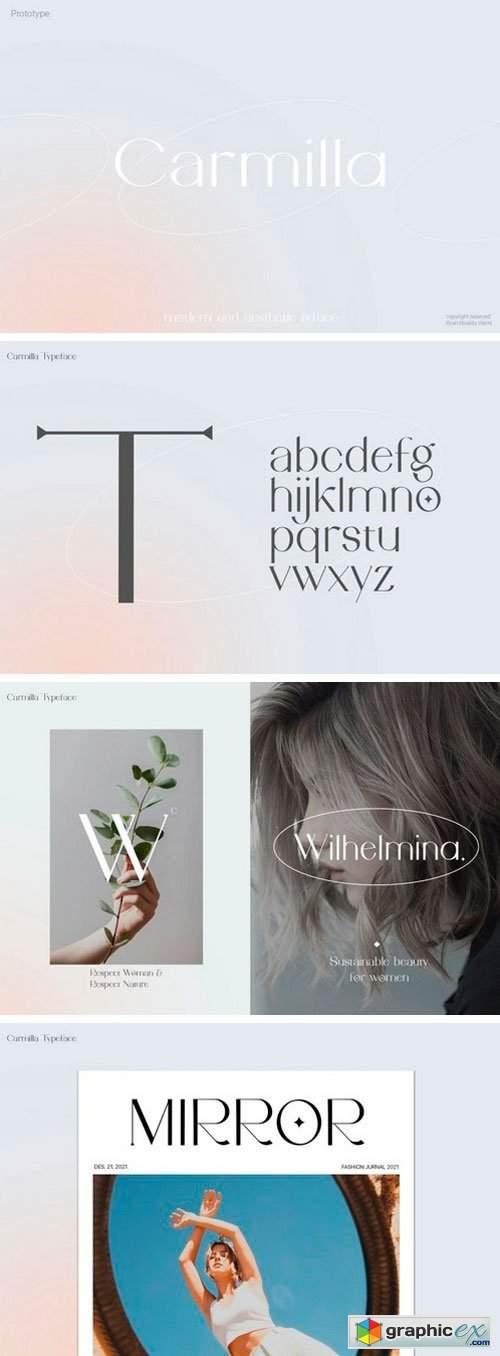 Carmilla Sans Serif Font