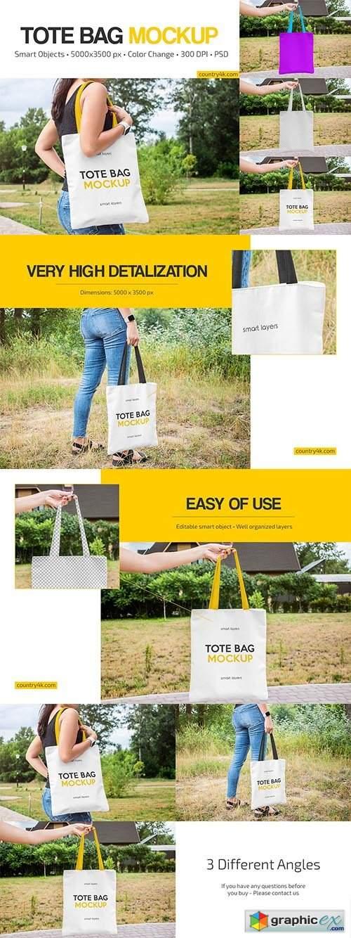 Tote Bag Mockup Set 6423121