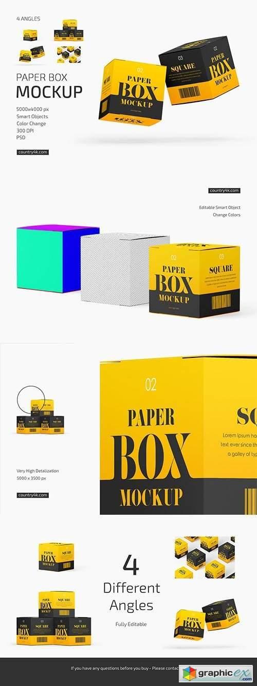 Paper Box Mockup Set 6406950