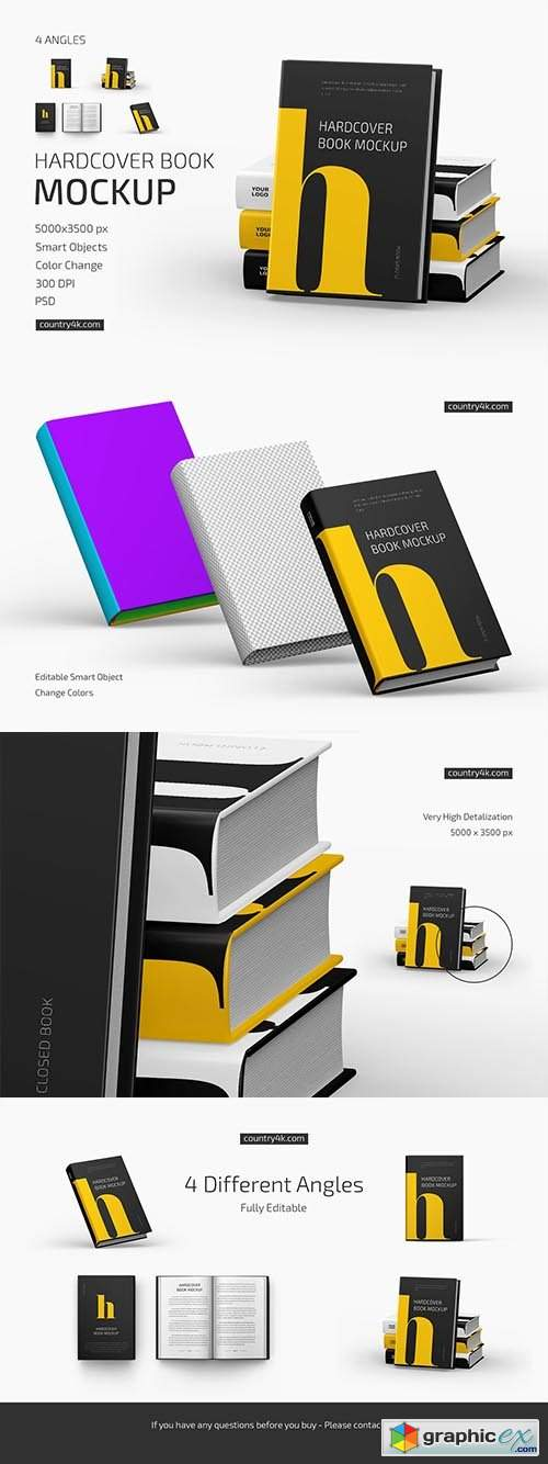 Hardcover Book Mockup Set 6372892