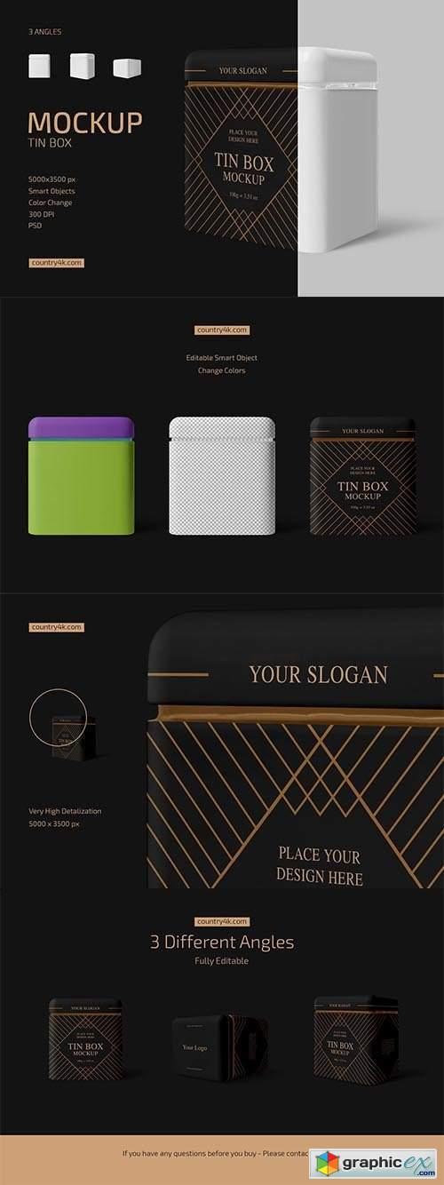 Tin Box Mockup Set 6556615