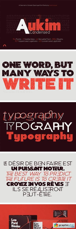 Aukim Condensed Font