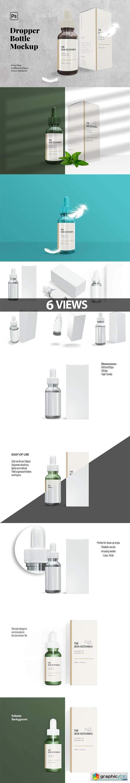 Dropper Bottle Packaging Mockup 6425663