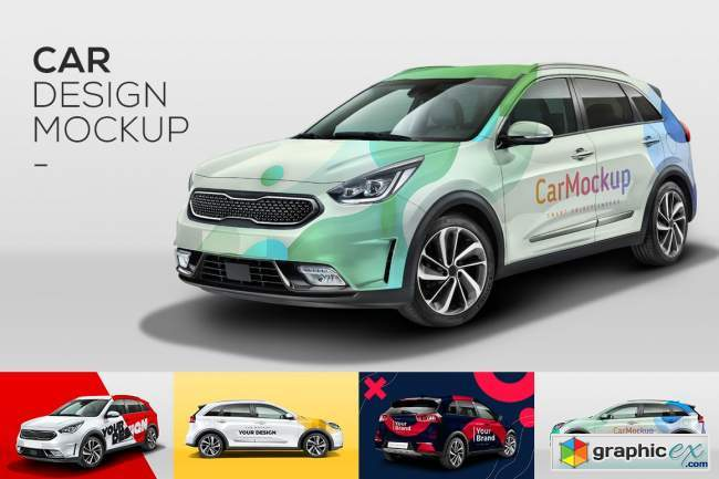 Car Mockup Customizable PSD
