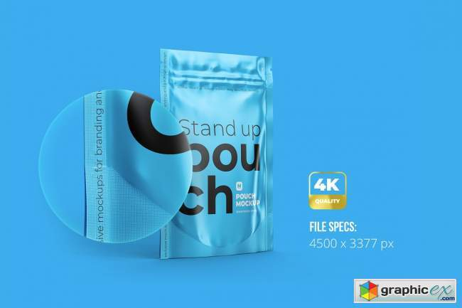 """4""""x6"""" Stand-Up Pouch. Half Side 5218100"""