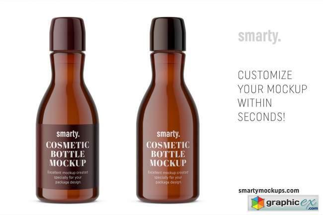 Amber pharmacy bottle mockup 3755843